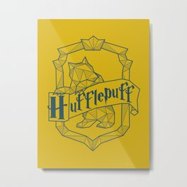 Hufflepuff Inspired Crest Metal Print