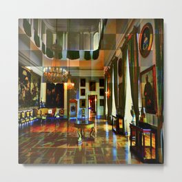 Castle and space in Photo Art Metal Print