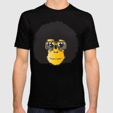 Monkey Retro MEDIUM Black Mens Fitted Tee
