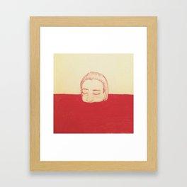 take a bath in my blood Framed Art Print
