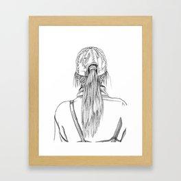 Ponytail Girl Framed Art Print