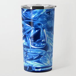 Chrome Folds with a blue Touch Travel Mug