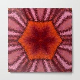 Dusty Red Kaleidoscope Metal Print