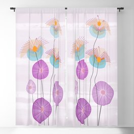 Weird Blooms Blackout Curtain