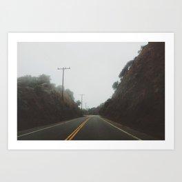 Foggy Canyon Road Art Print
