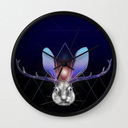 Cosmic Jackalope Wall Clock