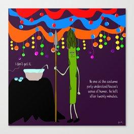 raw asparagus. Canvas Print