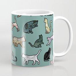 Cats shaped Marble - Green Coffee Mug