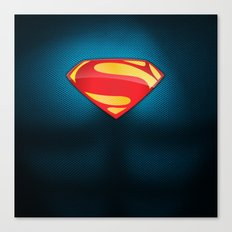 Man of Steel Suit Canvas Print
