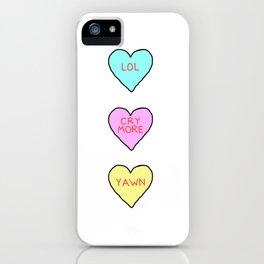 Conversation Hearts iPhone Case