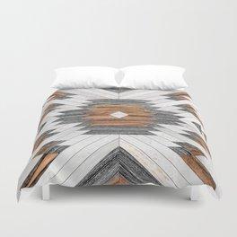 Urban Tribal Pattern No.8 - Aztec - Wood Duvet Cover