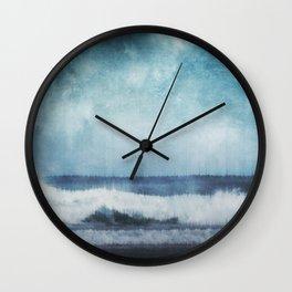 Wave Glitch 1 Wall Clock