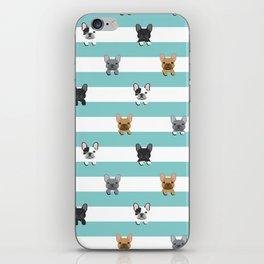 French Bulldog stripes iPhone Skin