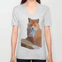 Cool Geometric Fox Design Graphic Art Gift design Unisex V-Neck
