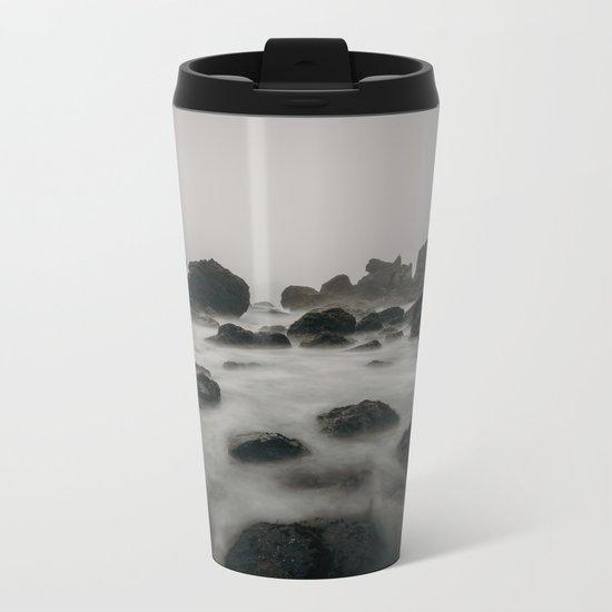 ocean shore Metal Travel Mug