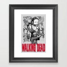 Walking Dead Framed Art Print