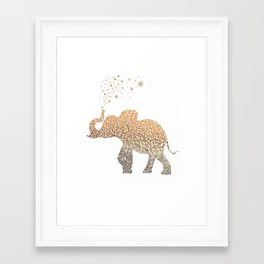 GOLD ELEPHANT Framed Art Print