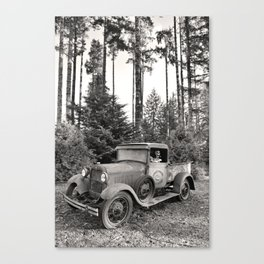 Buck Nasty's Moonshine Model A Ford Vintage Truck Skeleton Canvas Print