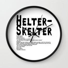 Helter Skelter (black on White) Wall Clock