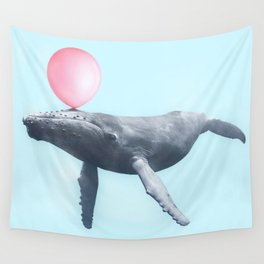 BUBBLEGUM WHALE Wall Tapestry