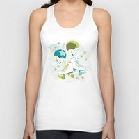 roller derby Tank Tops featuring Roller Derby Rumble by Wild Notions