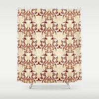 skyrim Shower Curtains featuring Celtic Loop White by Astrablink7