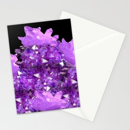 AWESOME PURPLE AMETHYST CRYSTAL CLUSTER Stationery Cards