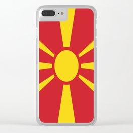 Flag of Macedonia - Macedonian,skopje,Bitola,Kumanovo,Prilep,Balkan,Alexander the great,Karagoz,red Clear iPhone Case