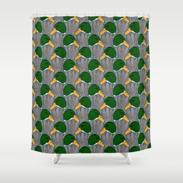 Mallard Duck Marsh Shower Curtain