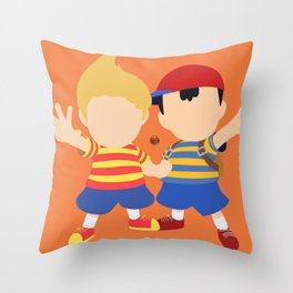 Ness&Lucas(Smash)Orange Throw Pillow