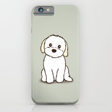Shih Tzu and Maltese Mix Puppy Illustration Slim Case iPhone 6s