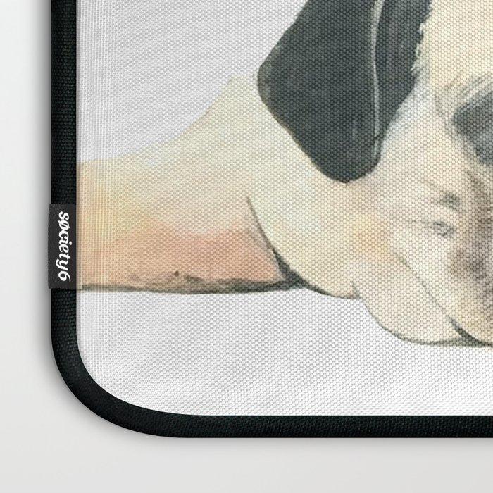 Nap Pug, Dog illustration original painting print Laptop Sleeve