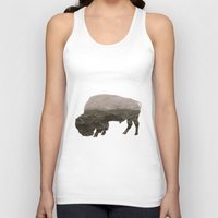 bison Tank Tops featuring Bison by Outdoor Bro