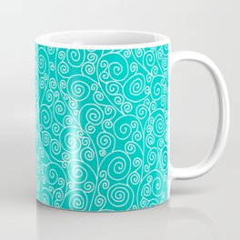 Turquoise Vines Drawing Coffee Mug