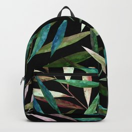 Color Bamboo Leaves at Night Backpack