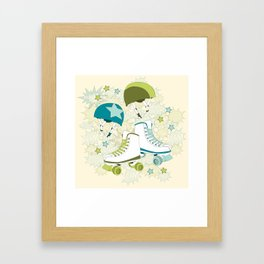 Roller Derby Rumble Framed Art Print