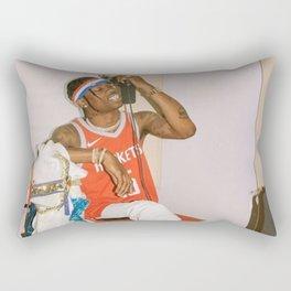 Travis Scot-t Music Silk Poster Frameless, canvas Print Rectangular Pillow