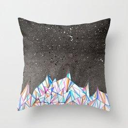Crystal City at Night Throw Pillow