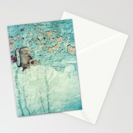 Turquoise Grunge Texture 1 Stationery Cards