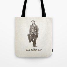 The Man Guitar Cat Tote Bag