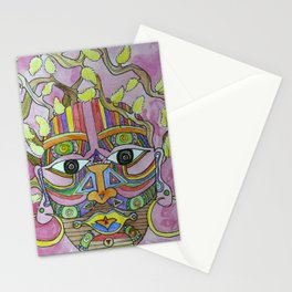 Pussy Willow Lady Stationery Cards