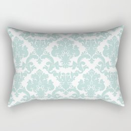 damask, in eau de nil Rectangular Pillow