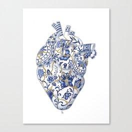 Broken heart - kintsugi Canvas Print