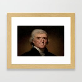 portrait of Thomas Jefferson by Rembrandt Peale Framed Art Print