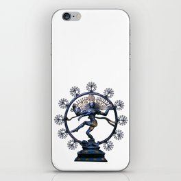 Shiva Nataraj, Lord of Dance (an actual factual fractal) iPhone Skin