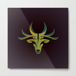 Royal Deer Metal Print