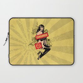 A Censored Sexy Woman Vintage Graphic Laptop Sleeve