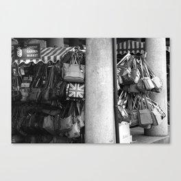 Bag Stall, Covent Garden Market, London Canvas Print