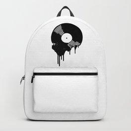 Black Melting Viny Record Backpack