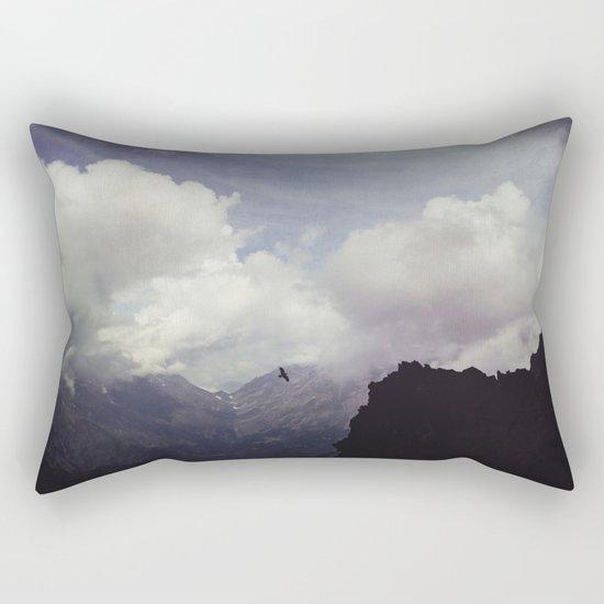 clouds over mountains Rectangular Pillow